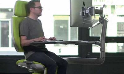 Bilgisayar başında bulunanlar için yeni masa sandalye çifti : İstasyon