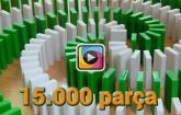 15 bin parça domino taşının hazırlanışı ve devrilişi