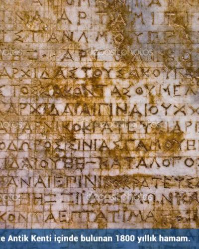 1800 yıllık sağlık dileği yazıtı Mersin'de bulundu