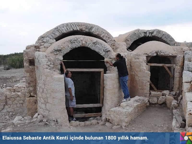 1800 yıllık sağlık dileği yazıtı Mersin'de bulundu | Elaiussa Sebaste Antik Kenti içindeki Hamam