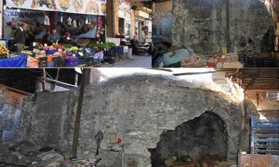 Tarihi Osmanlı Hamamı İzmir'de manav olarak hizmet ediyor!