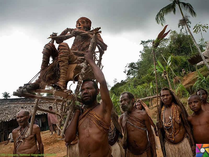 Tarihte bulunmuş 5 farklı mumyalama şekli   Papua Yeni Gine mumyaları