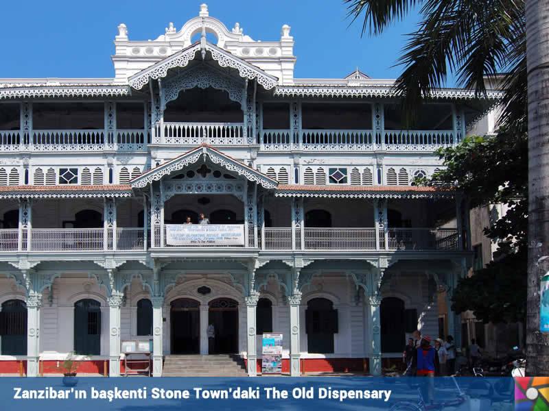 Zanzibar | Zangibar | Başkent Stone Town'daki The Old Dispensary şehrin simgesi olmuş