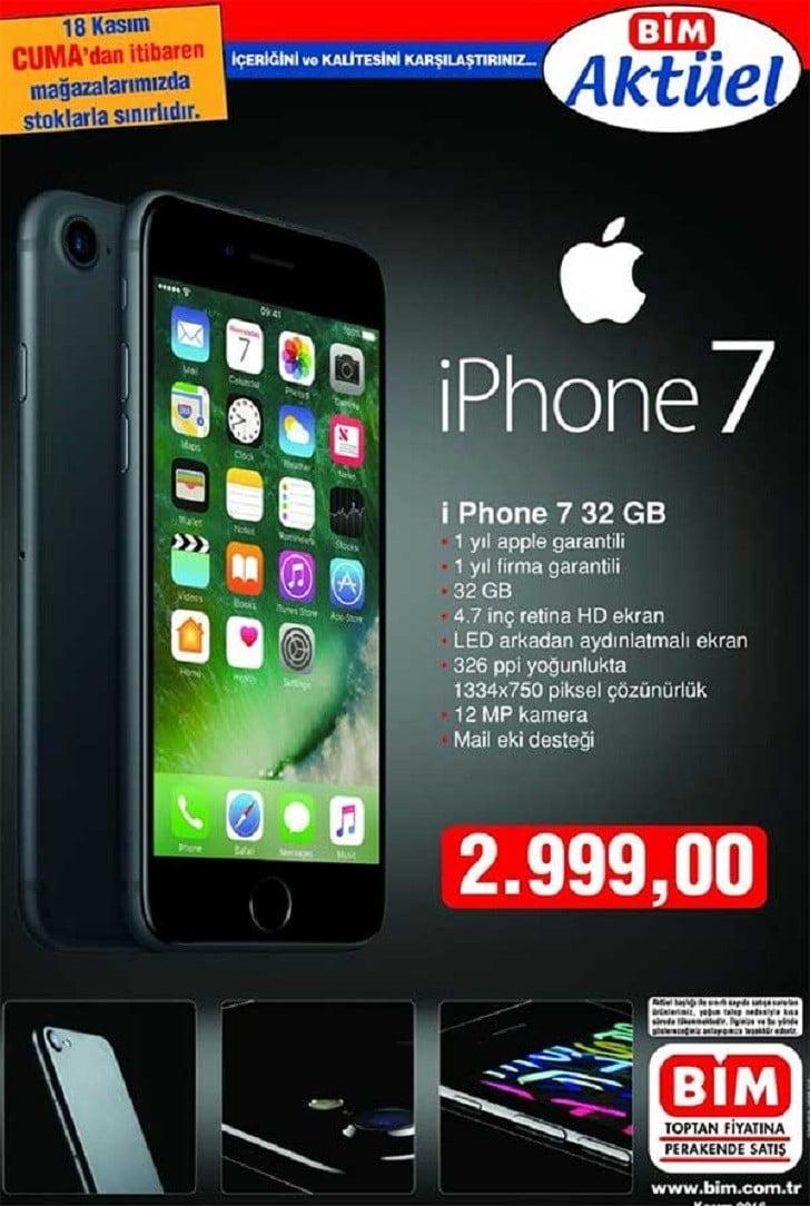 Bim 18 Kasım Cuma Günü iPhone 7 Satışına Başlıyor