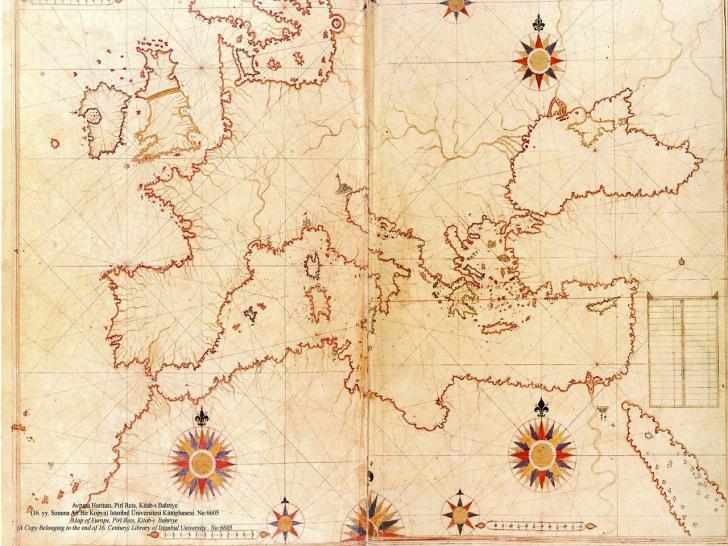 Haritalarda kuzey neden hep yukarıda kalır? | Sırrı çözülemeyen tekniği ile çizilmiş Piri Reis'in Avrupa Haritası