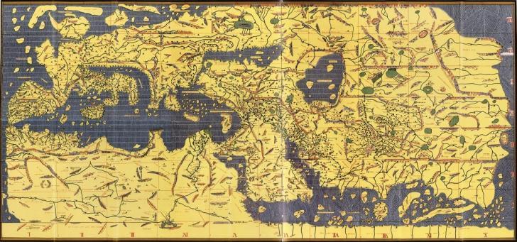 Haritalarda kuzey neden hep yukarıda kalır? | Muhammed İdrisi'nin haritası ters çevrilince herşey normal.