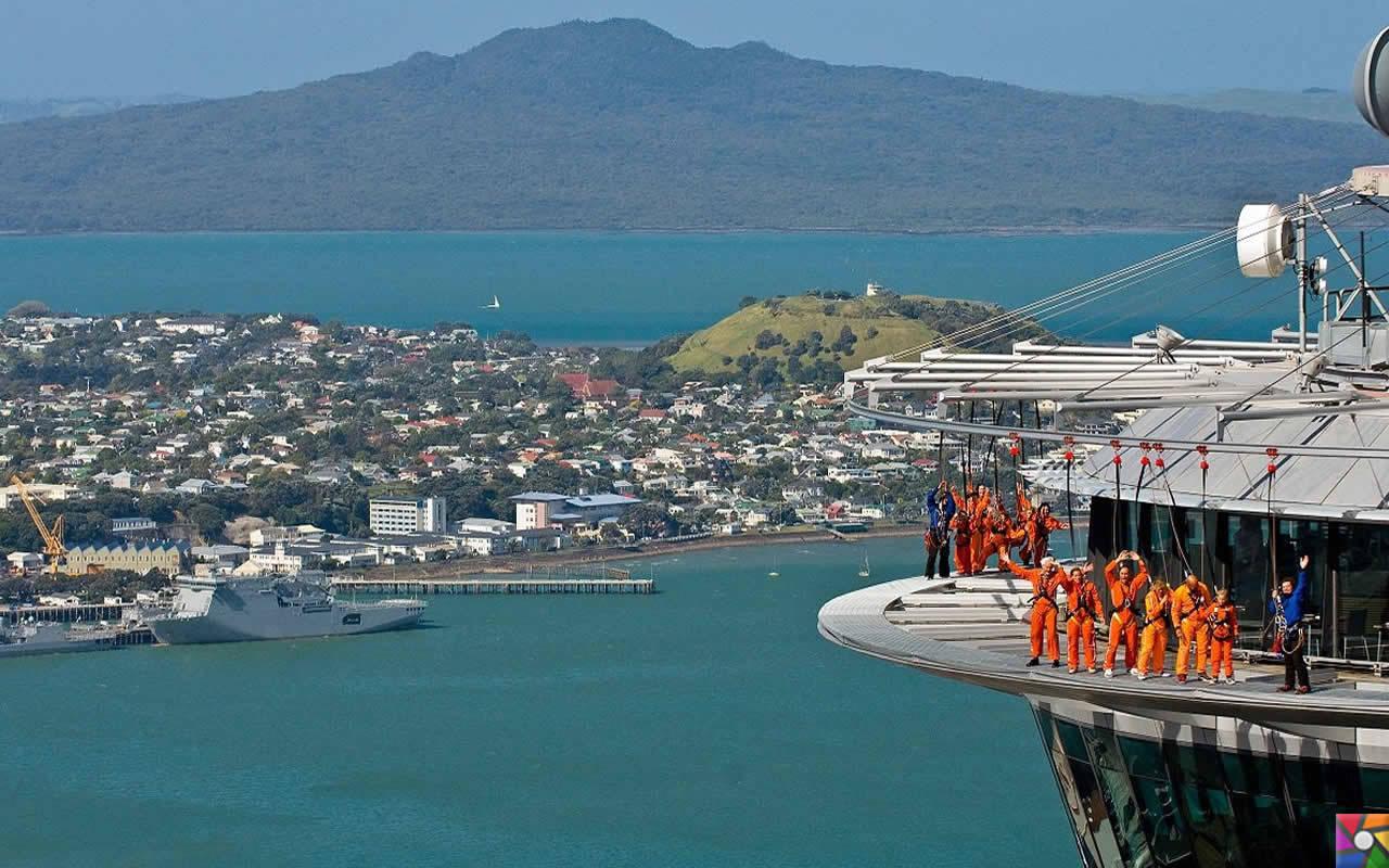 Uzak bir yerlere gidelim Uzun Bulutlar Ülkesine: Yeni Zelenda | Sky Tower'dan Sky Jump yapanlar