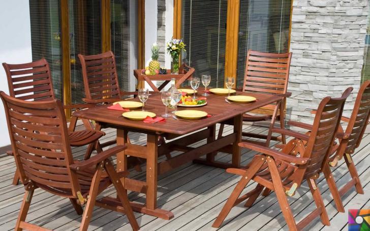 Tik ağacı ile yapılmış bahçe mobilyaları alırken nelere dikkat etmeliyiz? | Yeni cilalanmış tik ağaçlı bahçe oturma grubu