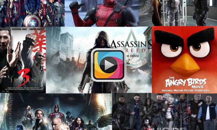 2016 yılında vizyona giren 262 filmin fragmanları tek videoda!