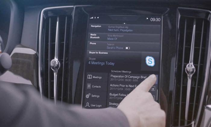 Volvo otomobillerde Skype artık kurulu gelecek!