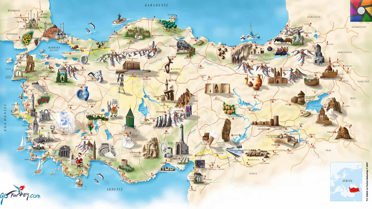 Bölgelere Göre Tatil Kalori Haritası