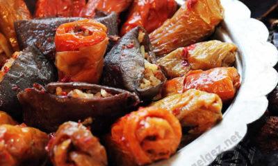 Maraş usulü Kuru patlıcan ve biberli Zeytinyağlı kuru dolma nasıl yapılır?