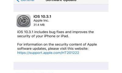 iOS 10.3.1 Güncellemesi Yayınlandı!