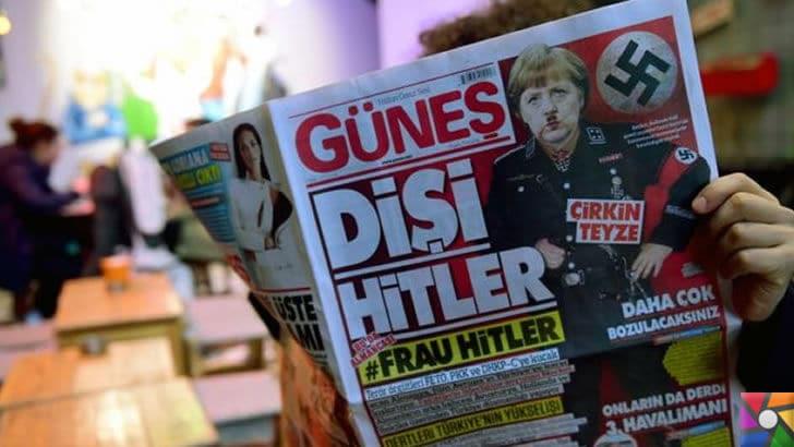 Son 12 ayda Almanya ile yaşadığımız siyasi krizlerin sebepleri nelerdir? | Türkiye'de bazı gazeteler Almanya Başbakanı Angela Merkel'i Adolf Hitler'e benzetmişti.