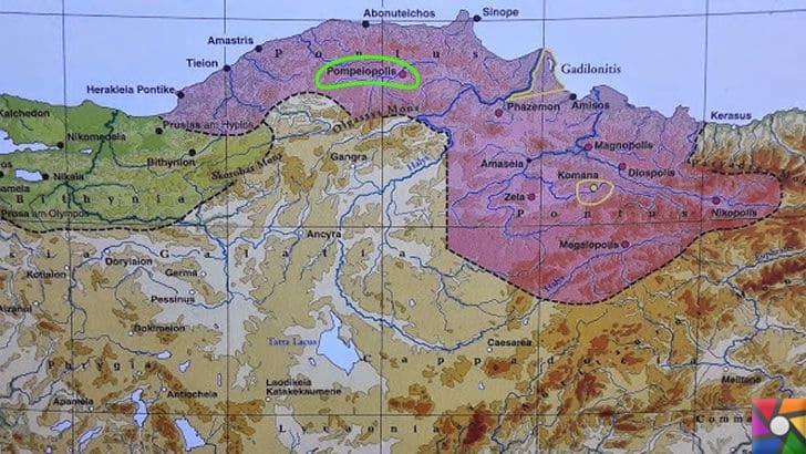 Pompeiopolis Antik Kenti Nerede? Tarihçesi ve Kalıntıları | Dönemin bölge haritası