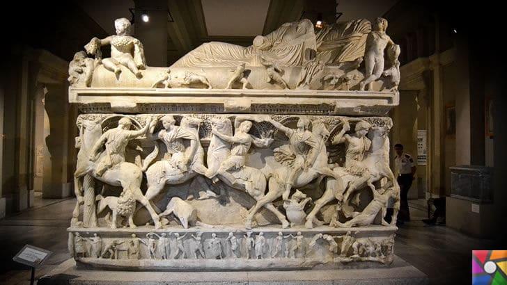 Sidemara (Küçük Asya) Lahdi İstanbul Arkeoloji Müzeleri / Sidemara (Small Asia) Sarcophagus.. Istanbul Archaeological Museums