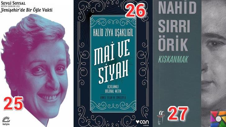 Türk Edebiyatının okunması gereken en iyi 100 Roman nedir? | En iyi oy alan 25, 26, 27. romanı