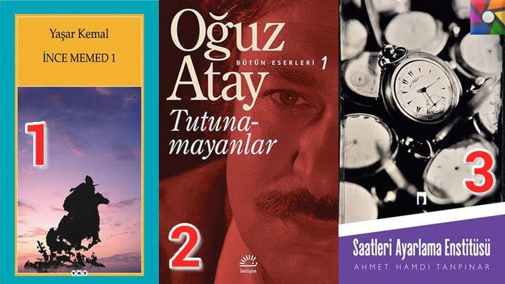 Türk Edebiyatının okunması gereken en iyi 100 Roman nedir? en iyi oy alan ilk 3 roman