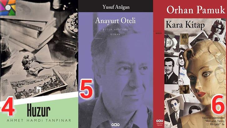 Türk Edebiyatının okunması gereken en iyi 100 Roman nedir? en iyi oy alan 4. 5. 6. romanı