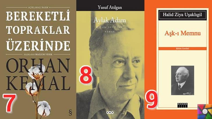 Türk Edebiyatının okunması gereken en iyi 100 Roman nedir? | En iyi oy alan 7, 8, 9. romanı