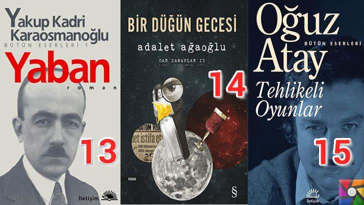 Türk Edebiyatının okunması gereken en iyi 100 Roman nedir? | En iyi oy alan 13, 14, 15. romanı