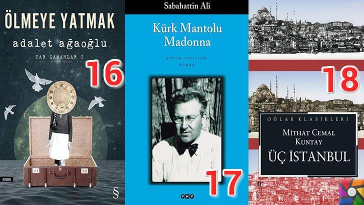 Türk Edebiyatının okunması gereken en iyi 100 Roman nedir? | En iyi oy alan 16, 17, 18. romanı