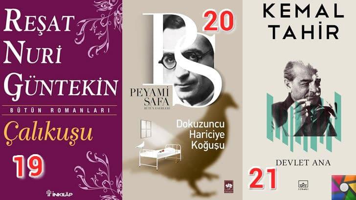 Türk Edebiyatının okunması gereken en iyi 100 Roman nedir? | En iyi oy alan 19, 20, 21. romanı