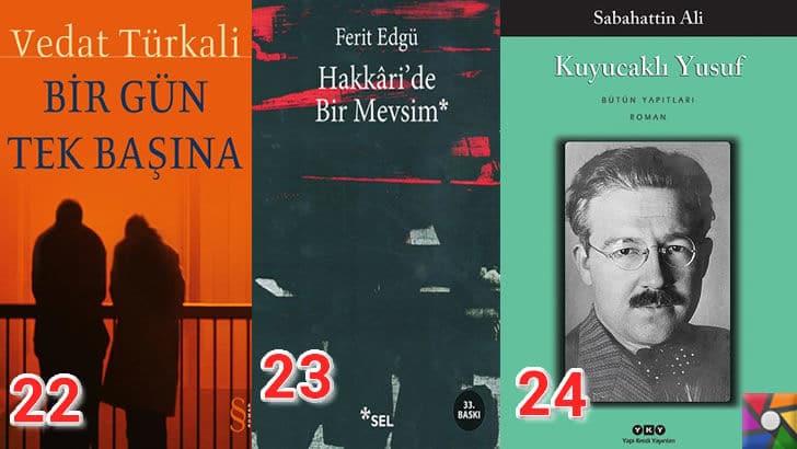 Türk Edebiyatının okunması gereken en iyi 100 Roman nedir? | En iyi oy alan 22, 23, 24. romanı