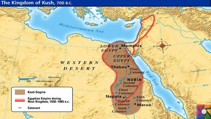 Afrika tarihinin en güçlü Kush Krallığını biliyor musunuz? | Kush Medeniyeti Toprakları