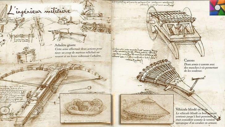 Leonardo da Vinci Kimdir? Hayatı, Biyografisi ve Teknik İcatları | Askeri alanda çizilmiş kodeksleri