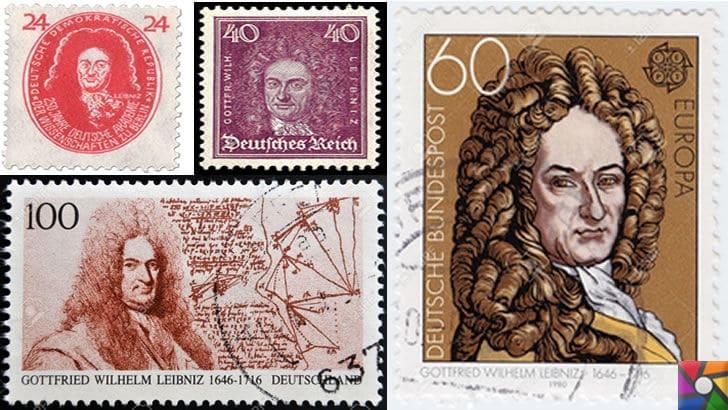 Gottfried Wilhelm Leibniz Kimdir? Hayatı, Biyografisi ve İcatları | Gottfried Wilhelm Leibniz'in anısına yapılmış bazı eski pullar