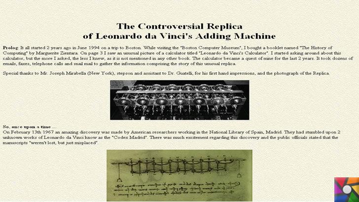 İlk hesap makinesini Leonardo da Vinci'mi buldu? Pascal'mı buldu? | Yıllar sonra replika yapılmış Leonardo'nun hesap makinesi