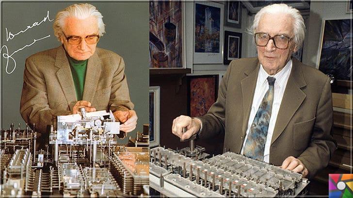 Konrad Zuse kimdir? Konrad Zuse'nin Hayatı ve Biyografisi   Konrad Zuse yıllar sonra Z1 ve Z2 bilgisayarlarıyla fotoğrafı