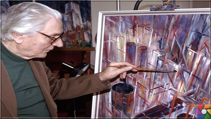 Konrad Zuse kimdir? Konrad Zuse'nin Hayatı ve Biyografisi | Konrad Zuse emeklilik yıllarında ressamlığa başladı