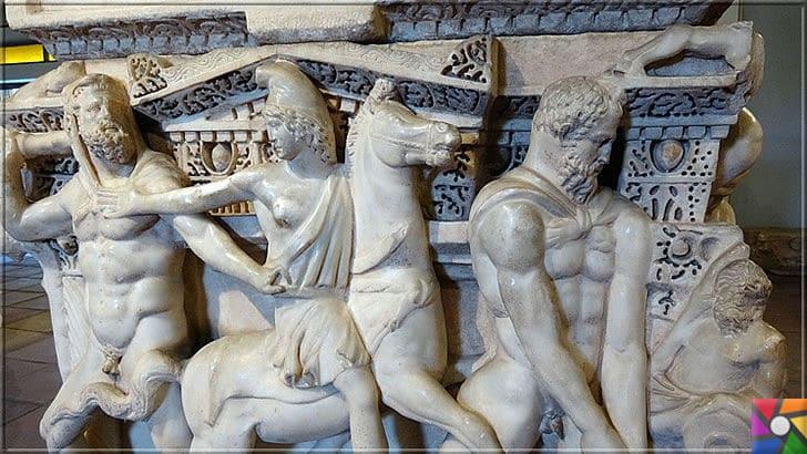 Konya Herakles Lahdi Nerede? Nasıl gidilir? Tarihçesi ve Özellikleri | Konya Herakles Lahdinin yan yüz tasviri