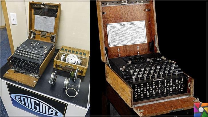 Nazilerin mesajlarını gizli şifreleme yapan Tarihin en kötü makinesi: Enigma | Daktiloya benzeyen bu cihazlar 2. Dünya savaşının uzamasına neden olmuştur