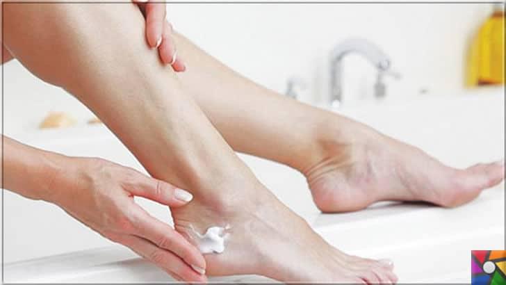 Kuru ve çatlamış ayaklar için evde yapılabilecek kolay ve pratik 20 tarif | Ayakların en çok kuruyan bölgesi topuklar için nemlendirici her zaman sürünüz.