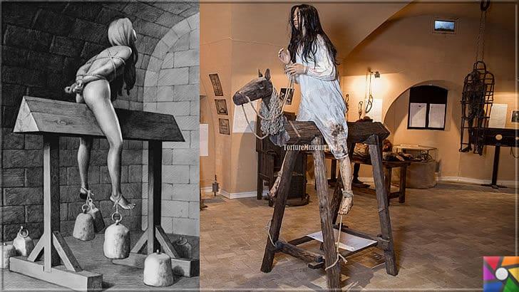 Ortaçağ Avrupa'sında yapılan insanlık dışı 10 işkence aleti ve yapılış şekli | İspanyol Eşeği işkence aleti