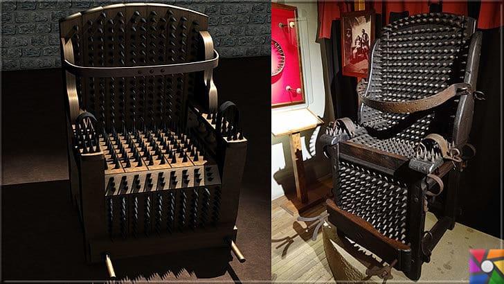 Ortaçağ Avrupa'sında yapılan insanlık dışı 10 işkence aleti ve yapılış şekli | İşkence Sandalyesi (Engizisyon Sandalyesi)