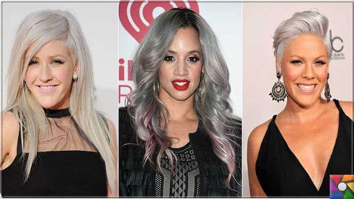 Kadınların yeni saç modası Gri Saçlar nasıl yapılır? Kendin Yap | Yabancı ünlüler gri saç modasına öncülük yapıyorlar