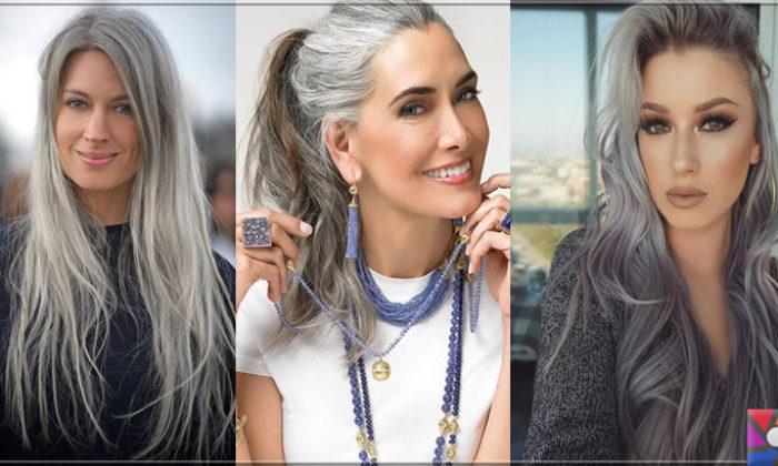 Kadınların yeni saç modası Gri Saçlar nasıl yapılır? Kendin Yap