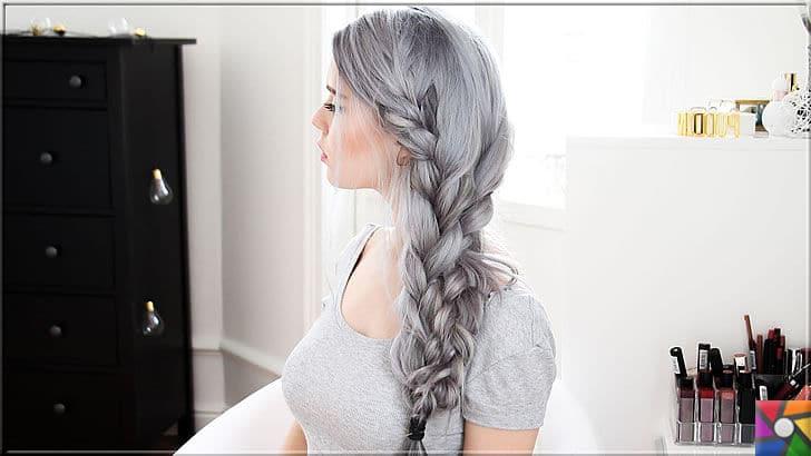 Kadınların yeni saç modası Gri Saçlar nasıl yapılır? Kendin Yap | Gri saçlar ile yeni saç model tasarımlar