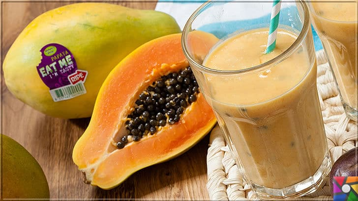 Kalp ve Damar Sağlığı için tüketilmesi gereken en önemli 40 süper gıda | Papaya meyvesinin harika tadını yapacağınız katı meyve suyu yani Smothie ile harika sağlıklı bir içecek yapabilirsiniz
