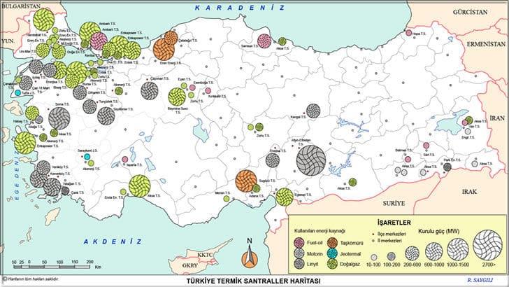 Enerji Kaynakları Nedir? Yenilebilir Enerji Kaynakları Nelerdir? | Türkiye'deki Termik Santrallerin Haritası