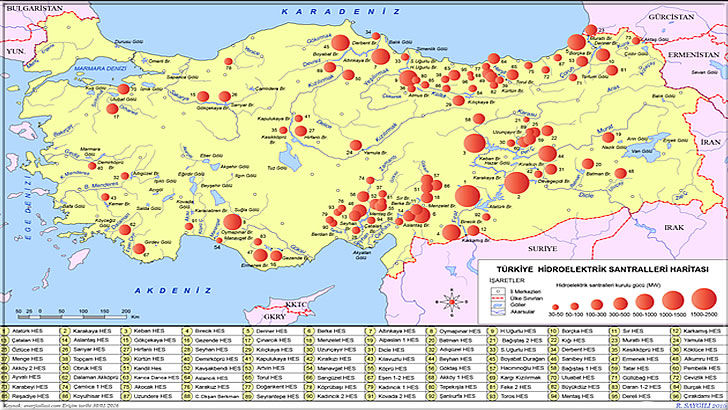 Enerji Kaynakları Nedir? Yenilebilir Enerji Kaynakları Nelerdir? | Türkiye'deki Hidrolelektrik Santrallerin Haritası