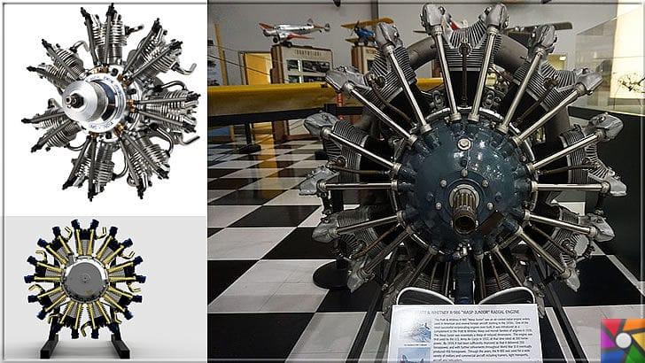 Radyal Motor Nedir? Radyal (Yıldız Tipi) Motor Nasıl Çalışır? | Radyol Motorlar yıldız şeklinde silindirleri sıralanmıştır