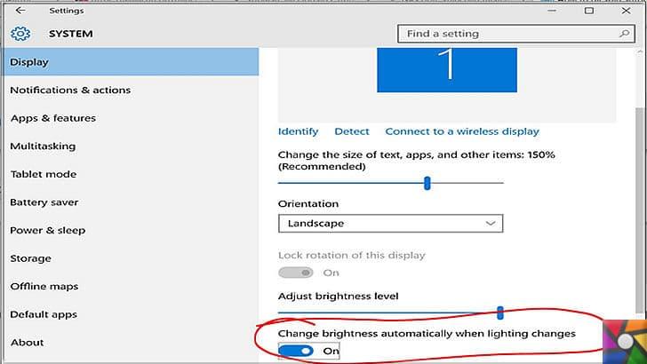 Windows ve Office uygulamalarını kolay kullanmanın 14 ipucu nedir? | Ekran parlaklığını otomatik olarak ayarlanmasını kapatabilirsiniz