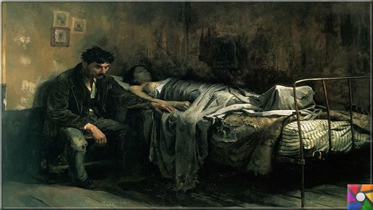 İlk hastalık ne zaman ortaya çıktı? Salgın hastalıklar nasıl oluştu? | Hayvanlardan geçen hastalıklar Avrupa'da milyonlarca kişinin ölümüne neden oldu. Resmedilen bir tablo: Eşi tifo hastası olan bir adamın üzgün hali