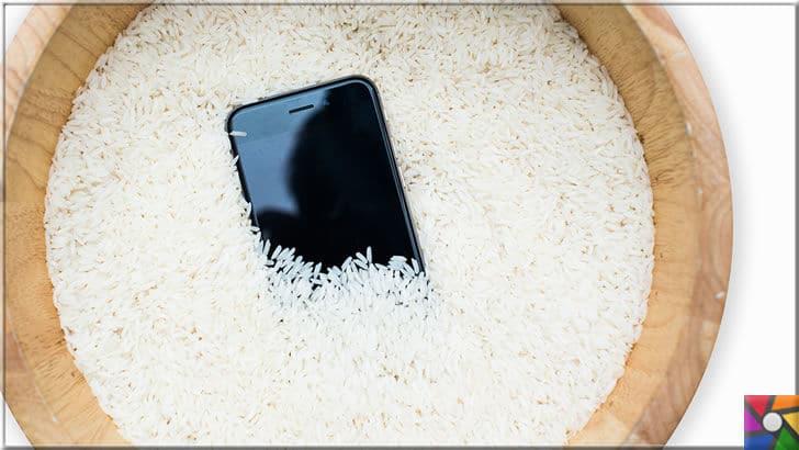 Akıllı telefon suya düştüğünde yada ıslandığında neler yapılmalı? | Pirinç içindeki nişasta ile nemi çeker. Bu yüzden pirinç kesinlikle acil müdahale ekipmanı