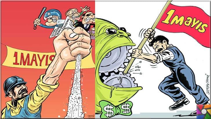 1 Mayıs İşçi ve Emekçi Bayramı nasıl ortaya çıkmıştır? Neden 1 Mayıs? |1 Mayıs karikatürleri bu günün anlamını kısaca özetliyor
